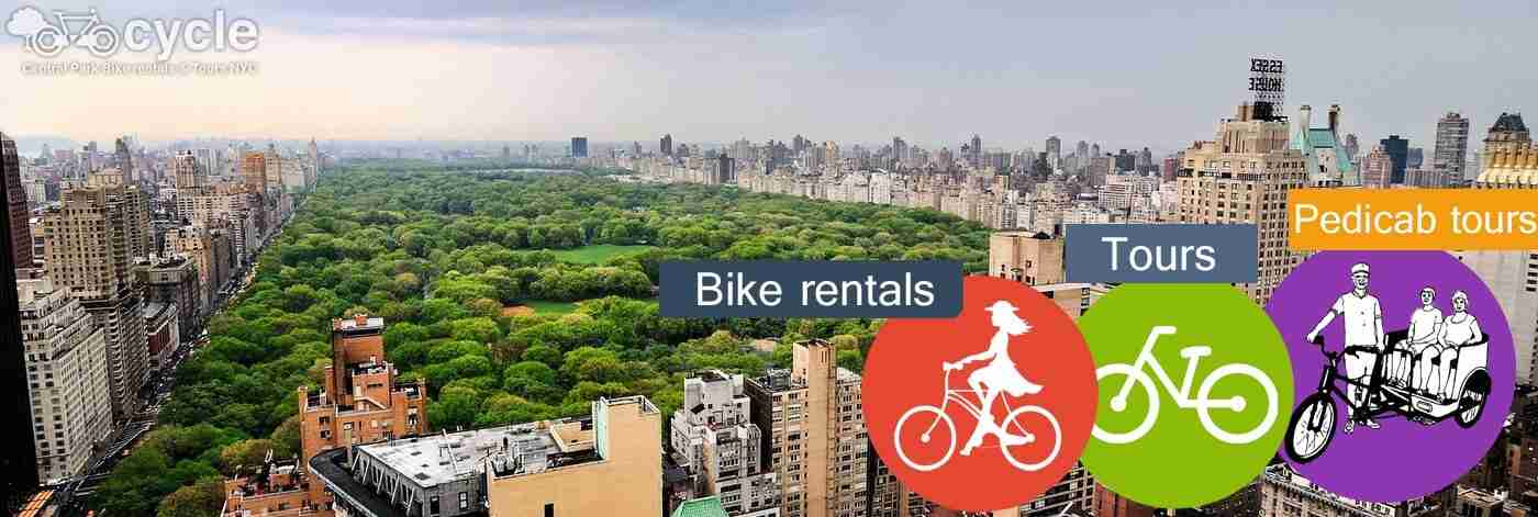central park bike rental tours pedicab tour in New York city nyc ny